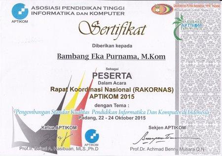 Rakornas APTIKOM Padang 2015