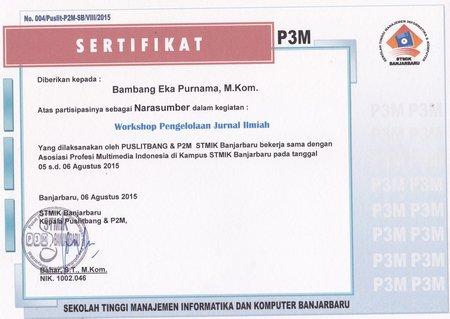 Workshop Pengelolaan Jurnal STMIK Banjarbaru