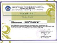 Konsultan ICT Jardiknas – DEPDIKNAS – 2008